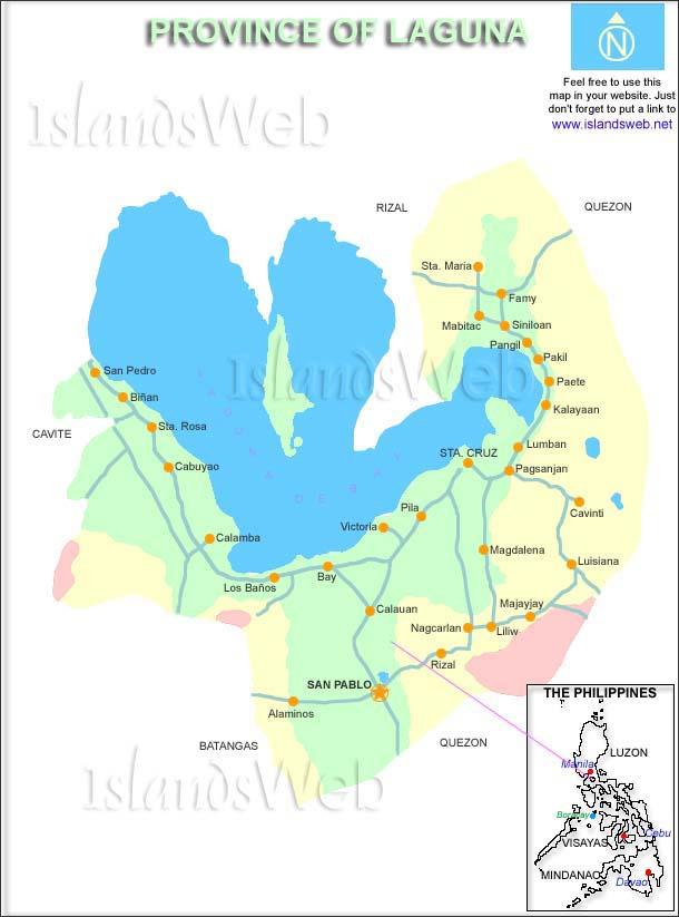Laguna Philippines Map