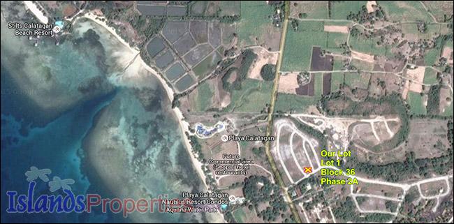 Discounted Water View Corner Lot at Playa Calatagan Beach Resort