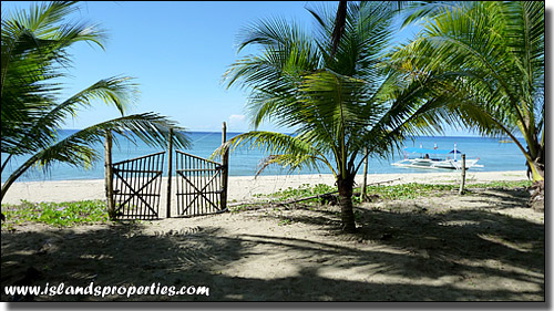 Sugar beach titled beachfront resort lot for sale code for Beach property philippines