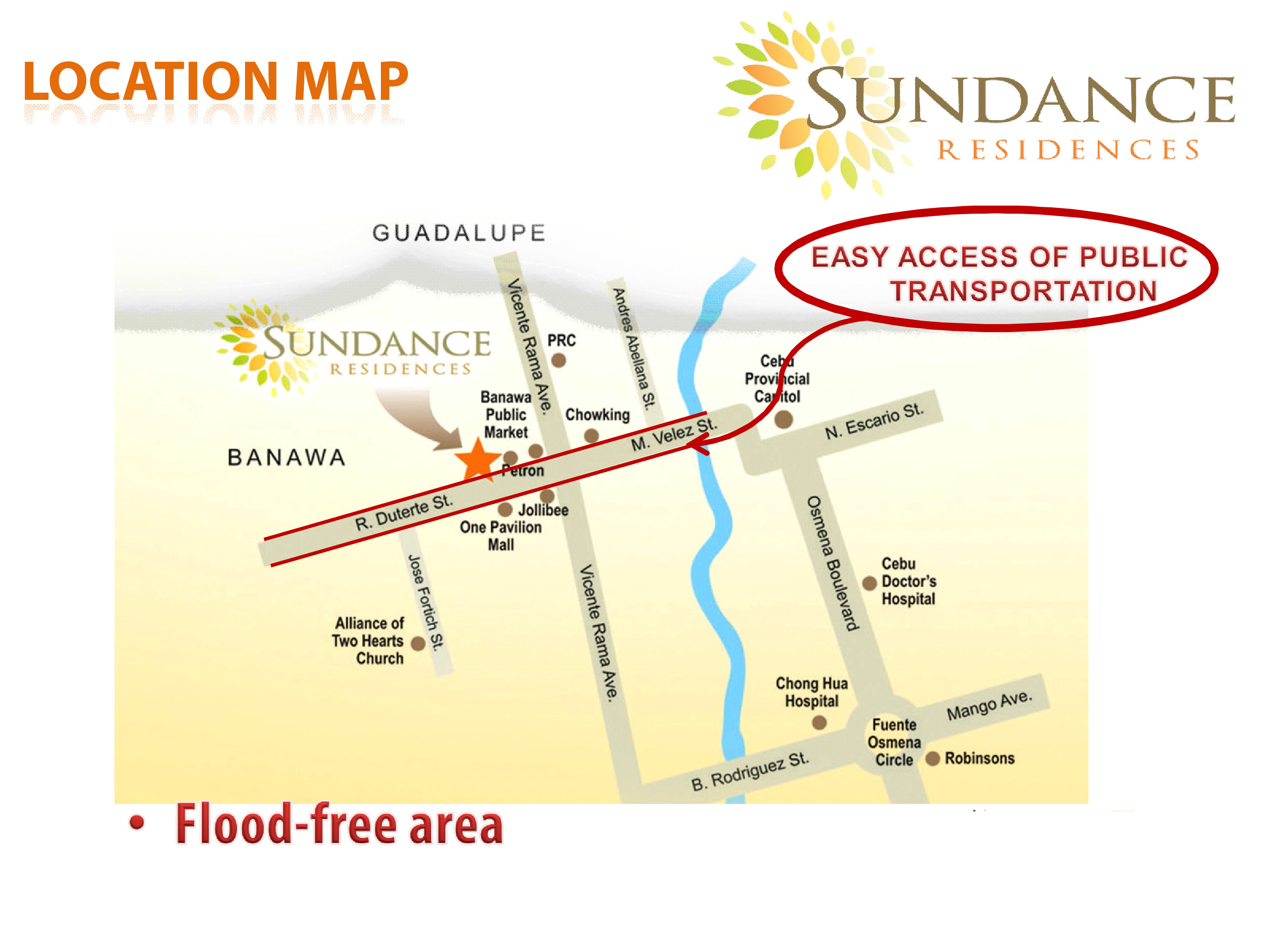 Image result for SUNDANCE residences vicinity map