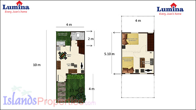 Printer friendly page lumina dumaguete townhouses for for Lumina homes interior design